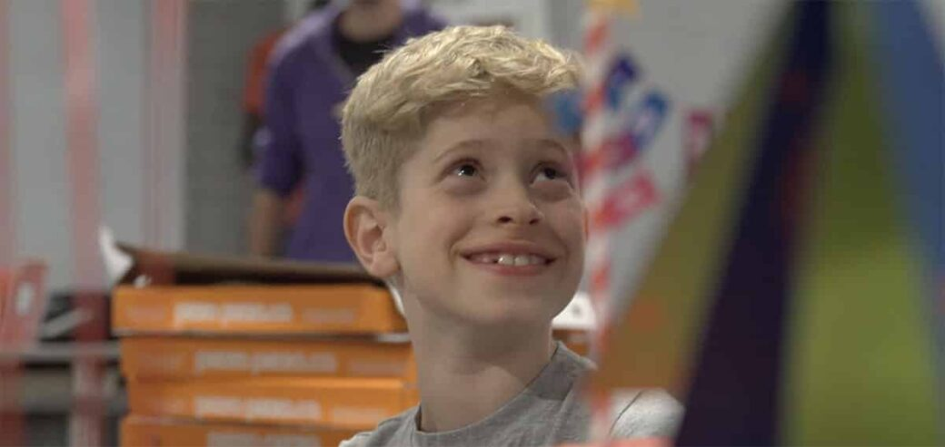 Boy smiling at Lockdown Ottawa Escape Room during his birthday party